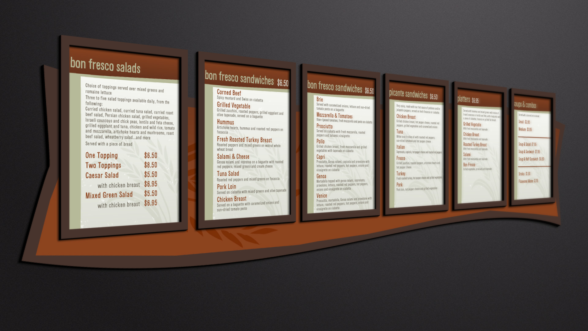 Bon Fresco Menu Board | Total Image Graphics